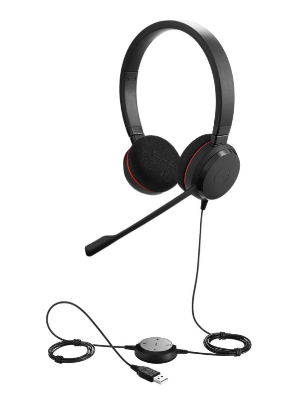 Jabra EVOLVE 20 MS, USB höfuðtól t.d. fyrir Skype for Business