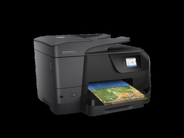 OfficeJet Pro 8710 er flott fjölnotatæki frá HP, áreiðanlegur og vandaður prentari með skanna.